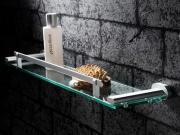 Стеклянная полочка в ванной