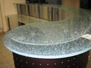 Стеклянная столешница из триплекса