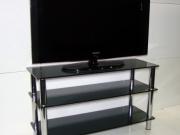 Стеклянная тумба под телевизор из черного стекла