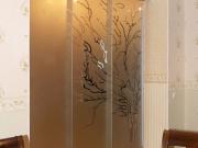 Раздвижные стеклянные двери с пескоструйным рисунков