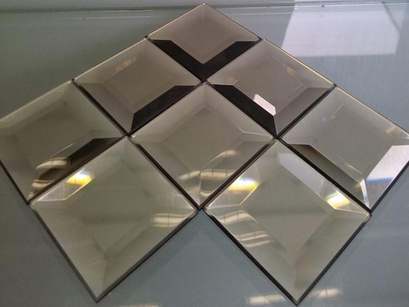 Зеркальная мозаика с фацетом