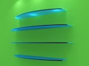 Стеклянные полки с подстветкой