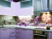 Кухонный стеклянный фартук с фотопечатью
